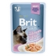 Brit premium 85g cat kaps.filety s lososem ve šťávě steril.1ks/24ks